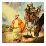 The Road to Damascus, from the Story of Paul Retold Giclee Print by Clive Uptton