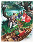 When They Were Young: Lewis Carroll Giclee Print by Peter Jackson
