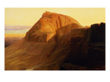 Masada or Sebbeh on the Dead Sea, 1858 Giclee Print by Edward Lear