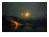 Fireworks across the Potomac, 1902 Premium Giclee Print by James Henry Moser
