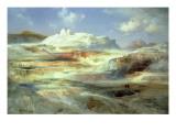Jupiter Terrace, Yellowstone, 1893 Premium Giclee Print by  Moran