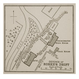 Plan of the Defence of Rorke's Drift Giclee Print by  English School