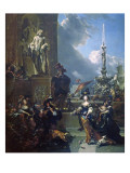 A Concert in a Public Square Giclee Print by Nicolaes Pietersz. Berchem