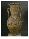 Attic Amphora, Late Geometric Ii B Period Giclee Print by  Greek