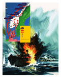 Allied Invasion of Norway During Ww2 Reproduction procédé giclée par Gerry Wood