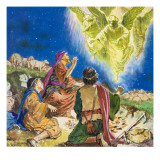 The First to Be Told About Jesus Giclee Print by Clive Uptton