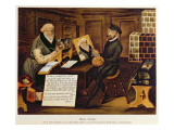 The Artist at Work Painting Hans Sachs Giclee Print by Andreas Herneyssen