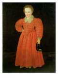 Portrait of a Little Boy, Wearing a Red Dress Giclee Print by Robert Peake