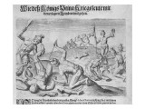 Cannibalism, Engraved by Theodor De Bry Giclee Print by John White