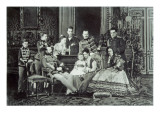 Family Portrait of Emperor Alexander Ii Giclee Print by Russian Photographer 