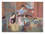 Chinese Lute, Moon Guitar and Table Zither Giclee Print by Chinese School 