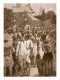 The British Forces Entering Mandalay, 1885 Giclee Print by William Barnes Wollen