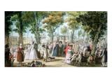 Promenade En Boulevard Du Temple, 1788 Giclee Print by Jacques Francois Joseph Swebach