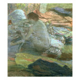 Seated Woman Drying Her Feet, C.1893 Giclee Print by Edgar Degas