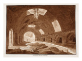 A Gallery in the Via Tiburtina, 1833 Giclee Print by Agostino Tofanelli