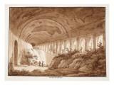 Portico of the Villa Maecenas, 1833 Giclee Print by Agostino Tofanelli