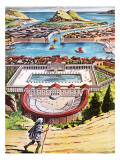 The Temple of Diana at Ephesus Giclee Print by Ruggero Giovannini