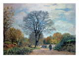 A Road in Seine-Et-Marne, 1878 Giclee Print by Alfred Sisley