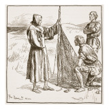 Wilfrid with the South Saxons Giclee Print by Frederick Pegram
