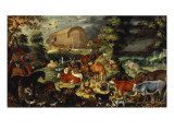 The Animals Entering the Ark Giclee Print by Jacob II Savery