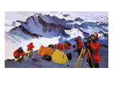 Surveying Antarctica Giclee Print by Graham Coton