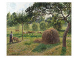 Dusk at Eragny, 1896 Giclee Print by Camille Pissarro
