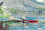 The Red Canoe, 1884 Giclee Print by Winslow Homer