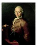 Johann Georg Leopold Mozart Giclee Print by Pietro Antonio Lorenzoni
