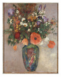 Bouquet of Flowers in a Vase Giclee Print by Odilon Redon