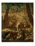 Berbers at an Oasis Well Giclee Print by Etienne Alphonse Dinet