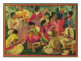 Mexican Village Scene Giclee Print by  Mexican School