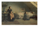 Widowed and Fatherless, 1888 Giclee Print by Thomas Benjamin Kennington
