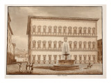 The Palazzo Farnese, 1833 Giclee Print by Agostino Tofanelli