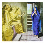 The Angels in the Tomb Giclee Print by Clive Uptton