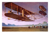 The Wright Brothers Reproduction procédé giclée par Tacconi