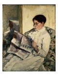 Reading Le Figaro, 1878 Giclee Print by Mary Cassatt