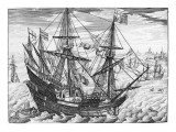 Queen Elizabeth's Galleon Giclee Print by  English School
