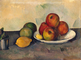 Still Life with Apples, C.1890 Premium Giclee Print by Paul Cézanne