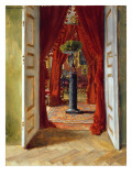 The Red Room, 1882 Giclee Print by Albert Keller