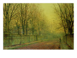 In the Golden Glow of Autumn Giclee Print by  Grimshaw