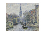 Canal a Amsterdam, 1874 Giclee Print by Claude Monet