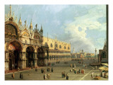St.Mark&#39;s Square, Venice Reproduction proc&#233;d&#233; gicl&#233;e par Canaletto 