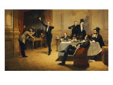 The Dinner Party, 1837 Giclee Print by Ferencz Paczka