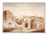 The Porta Latina, Closed, 1833 Giclee Print by Agostino Tofanelli