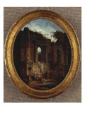 Landscape with Ruins Giclee Print by Hubert Robert