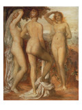 The Judgement of Paris Premium Giclee Print by George Frederick Watts
