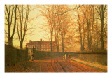 Going to Church, 1880 Premium Giclee Print by  Grimshaw
