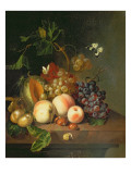 A Still Life on a Marble Ledge Giclee Print by Rachel Ruysch