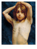 Study of a Young Boy Premium Giclee Print by William John Wainwright