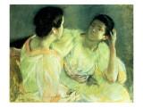 The Conversation, C.1914 Giclee Print by Mary Cassatt